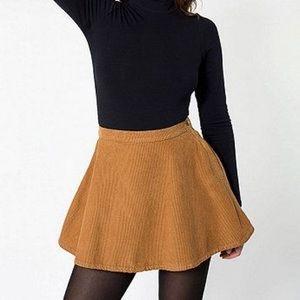 American Apparel Corduroy Circle Skater Skirt